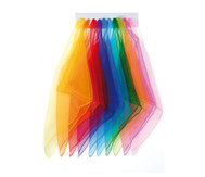 Jonglier-Tücher, 10 Stück in 10 Farben