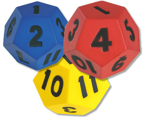 Teamwuerfel mit Zahlen 1-12