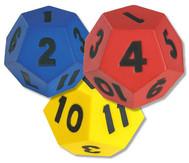 Würfel mit Zahlen 1-12,
