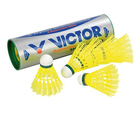 6 gelbe Badminton-Baelle-1