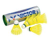 Badmintonbälle, gelb, 6 Stück