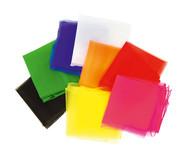 Jonglier-Tücher, 5 Stück, 65 x 65 cm in einer Farbe