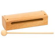 Holzblocktrommel aus hellem Holz