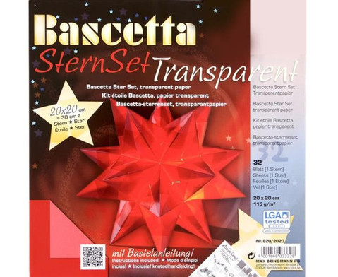 Bascetta Sternset Transparent 20 x 20 cm-3