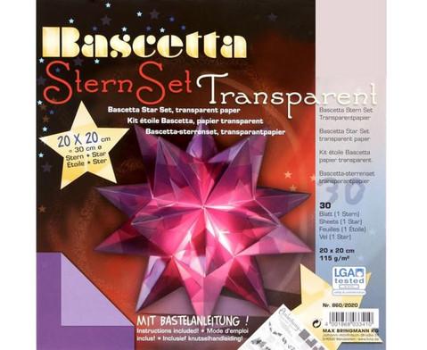 Bascetta Sternset Transparent 20 x 20 cm-5