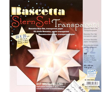 Bascetta Sternset Transparent 20 x 20 cm-8