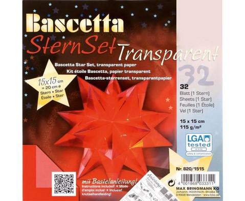 Bascetta Sternset Transparent 15 x 15 cm-2