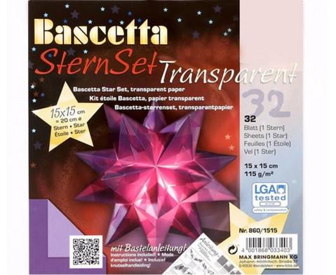 Bascetta Sternset Transparent 15 x 15 cm-4