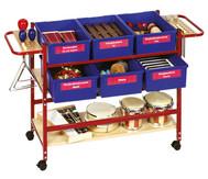 Schul-Musikwagen mit Instrumenten