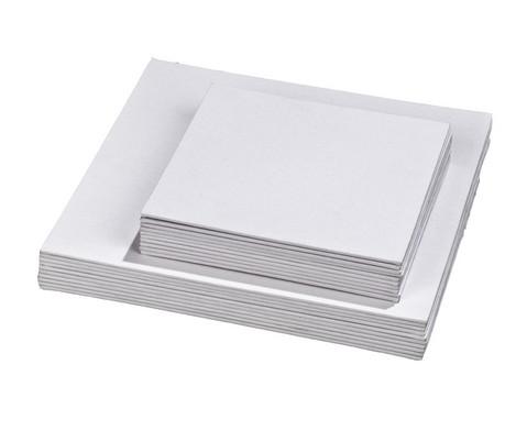 Betzold Karton Leinwaende quadratisch 10 Stueck