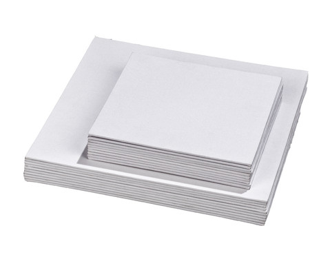 Betzold Pappleinwaende quadratisch 10 Stueck
