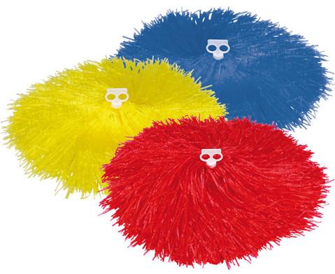 Pompons in Rot oder Gelb