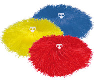 Pompons in Rot oder Gelb