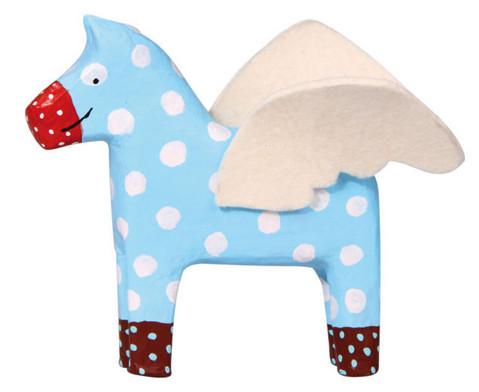 Pappmaschee-Pferde im Set-2