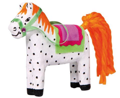 Pappmaschee-Pferde im Set-3