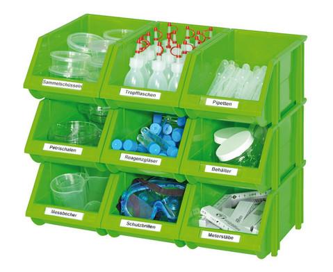 Betzold Kleine Stapelboxen Masse H x B x T 12 x 15 x 26 cm gruen