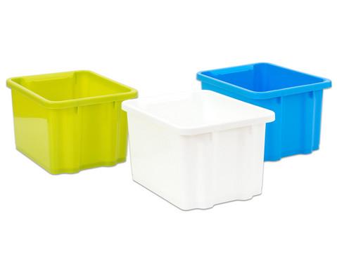 Betzold Mittlere Stapelbox in 3 Farben