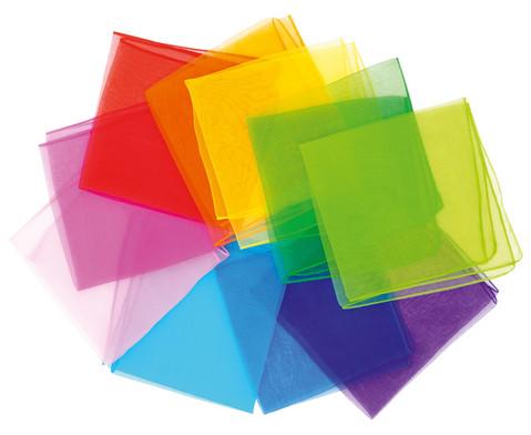Chiffon-Tuecher 10er-Set Einzelfarbe-1