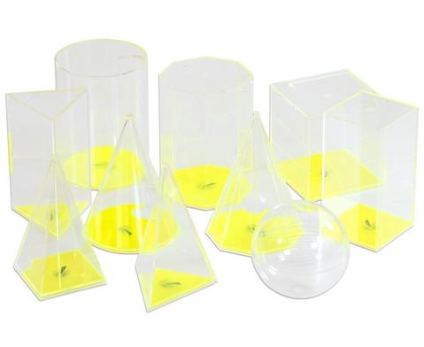 10-teiliger Satz geometrische Fuellkoerper im Kunststoffkoffer