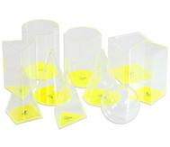 Betzold Geometrische Füllkörper im Kunststoffkoffer, 10-tlg. Satz