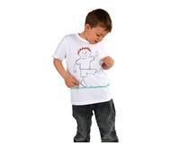 12 weiße Kinder-T-Shirts