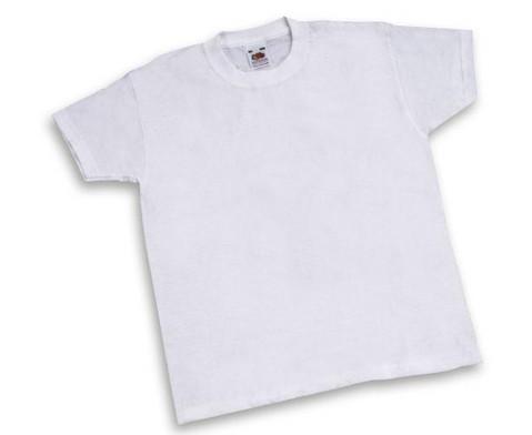 Fruit of the Loom 12 weisse Kinder-T-Shirts zum Bemalen