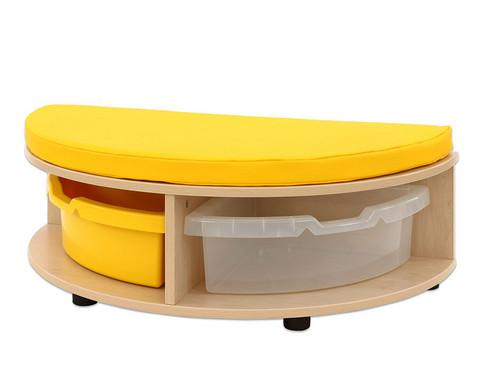 Maddox Sitzbankkombination 1 gelbe Sitzmatten