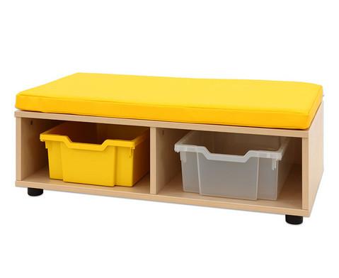 Maddox Sitzbankkombination 3 gelbe Sitzmatten