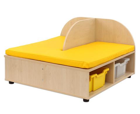 Maddox Sitzbankkombination 2 gelbe Sitzmatten