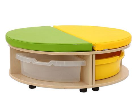 Maddox Sitzkombination 1 gruen-gelbe Sitzmatten