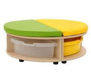 Maddox Sitzkombination 1, grün/gelbe Sitzmatten