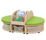 Maddox Sitzkombination 2, grüne Sitzmatten