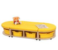 Maddox Sitzkombination 3, gelbe Sitzmatten