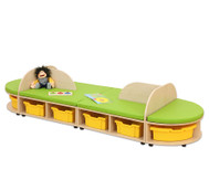 Maddox Sitzkombination 4, grüne Sitzmatten