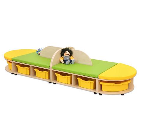 Maddox Sitzkombination 4 Sitzmatten gelb-gruen