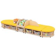 Maddox Sitzkombination 5, gelbe Sitzmatten