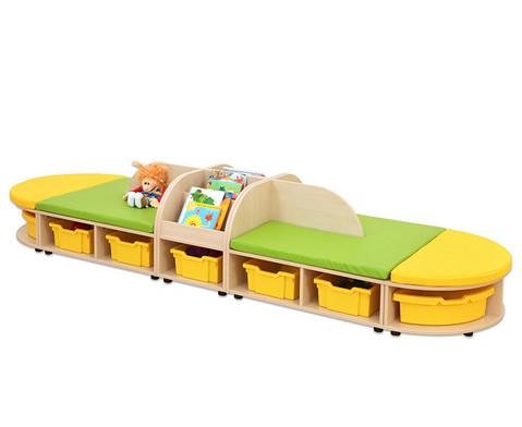 Maddox Sitzkombination 5 gruen-gelbe Sitzmatten