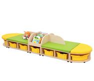 Maddox Sitzkombination 5, grün/gelbe Sitzmatten