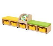 Maddox Sitzkombination 9, Sitzmatten gelb/grün