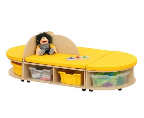Maddox Sitzkombination 7 mit gelben Sitzmatten