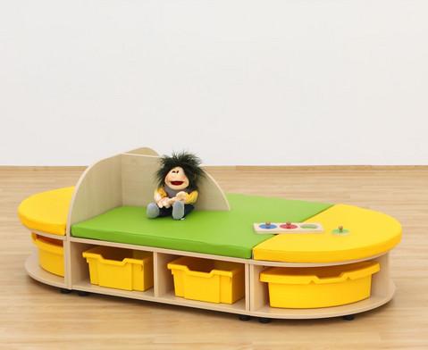 Maddox Sitzkombination 7 Sitzmatten gruen-gelb