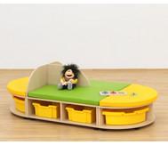 Maddox Sitzkombination 7, Sitzmatten grün/gelb
