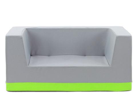 Sofa mit Rueckenlehne und Armstuetzen Webstoff-1