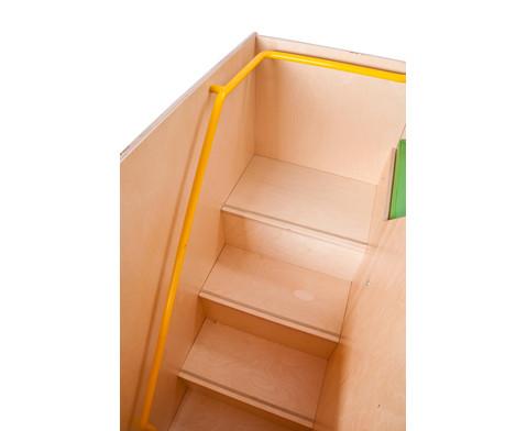 Wickelkommode mit Treppe und Tuer links 90 cm tief-2