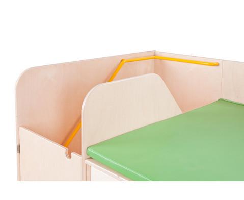 Wickelkommode mit Treppe und Tuer links 90 cm tief-4