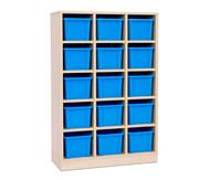 Garderoben-Fachregale CHIPPO, mit blauen Boxen