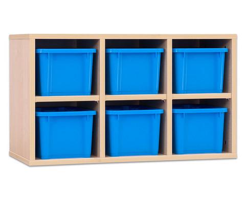 Garderoben-Haengeregale CHIPPO mit blauen Boxen-1