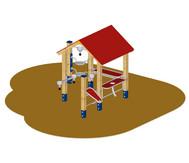 Großes Sandlabor mit Dach