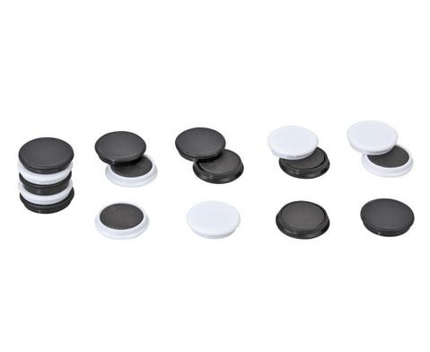 40 Greifmagnete in Box schwarz-weiss