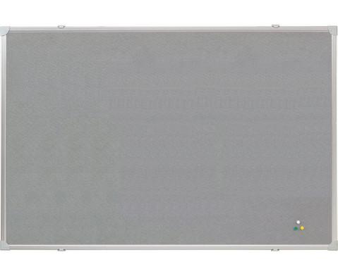 Textiltafel mit Alurahmen 120 x 90 cm blau oder grau